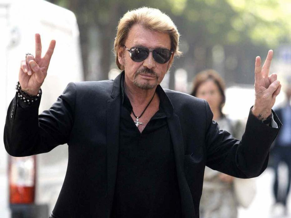Johnny Hallyday v de victoire logo du site officiel des journalistes