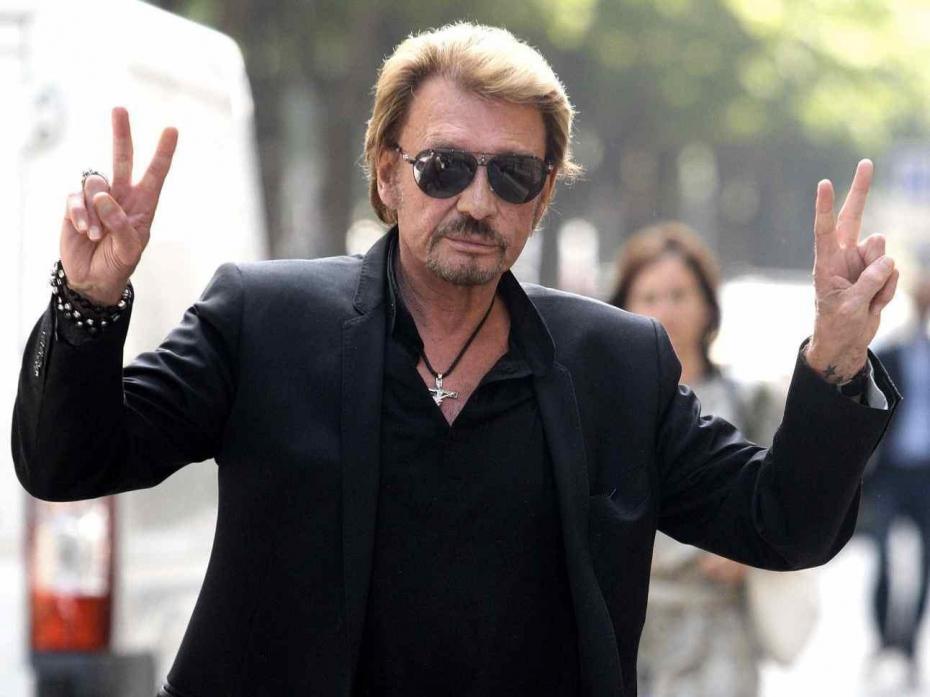 johnny hallyday phenomene signe v de victoire stars chanteur francais